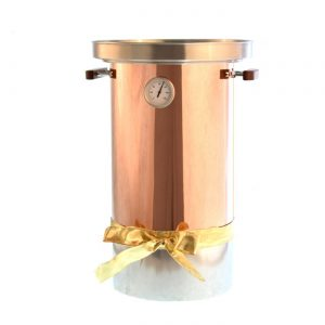 copper wrapped mulled wine pot