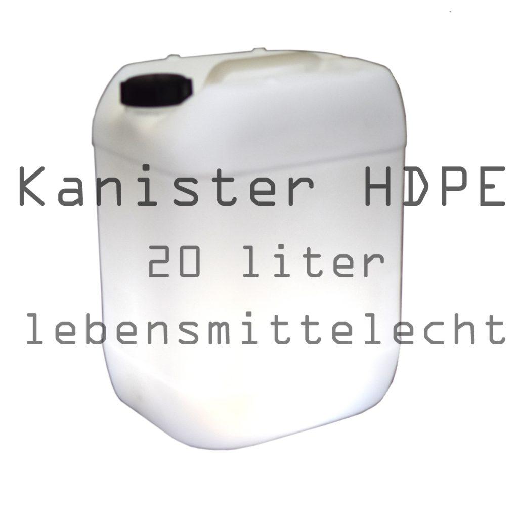 Häufig Kanister lebensmittelecht 20l HDPE für mobiles Handwaschbecken und LI76