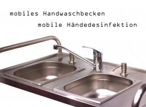 mobiles Handwaschbecken zur Händedesinfektion