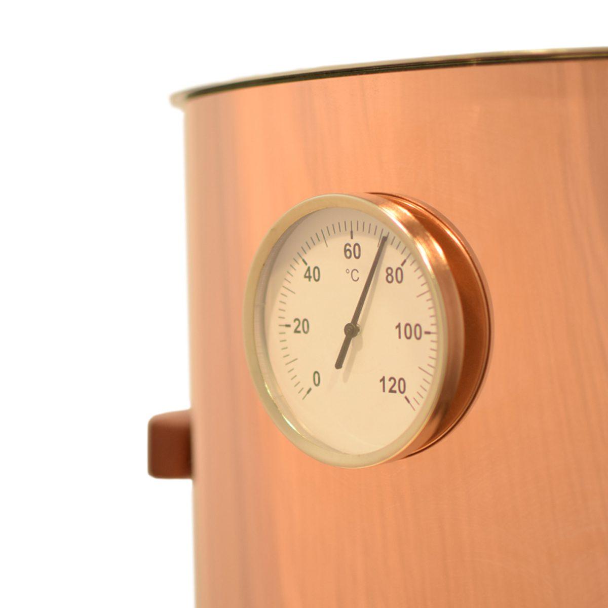 Glühweintopf mit Glühweinthermometer