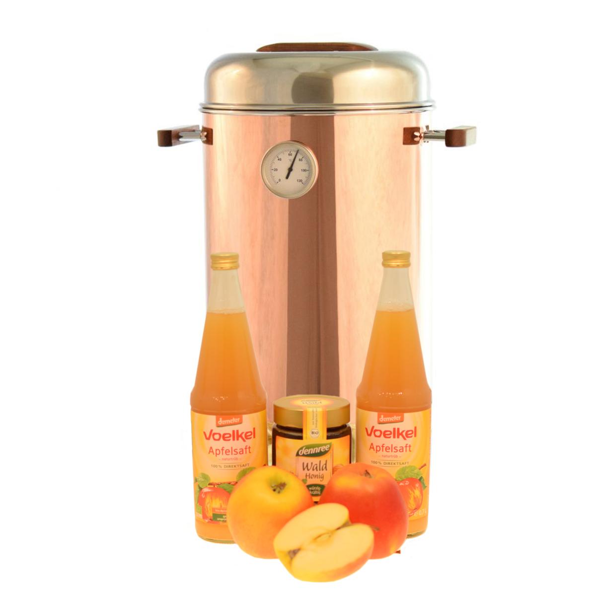 heißer Apfelsaft mit Honig